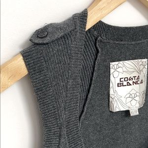Costa Blanca Grey Fitted Knit Tank